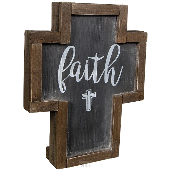 Mini rustic dust cross faith