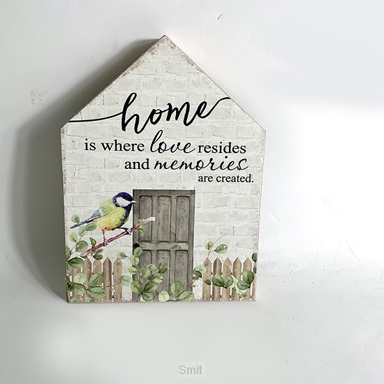 Home is where love resides and...