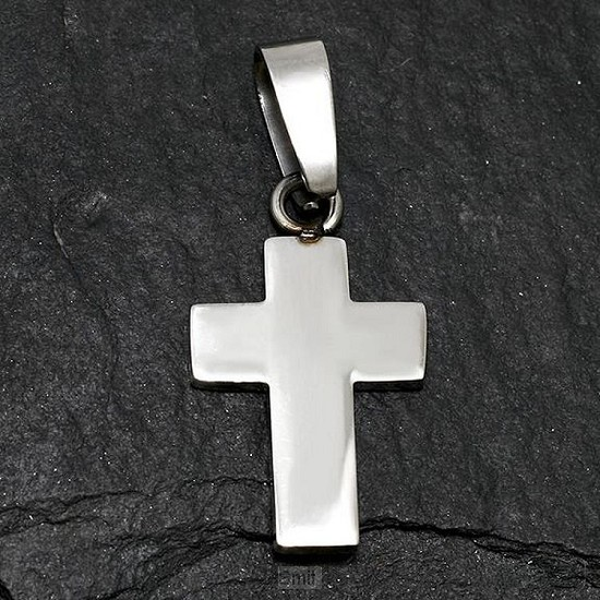 Stainless Steel Pendant Cross 24x15x2mm