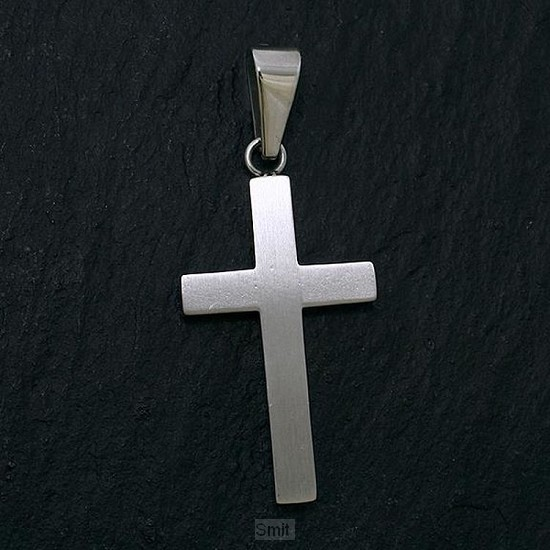 Stainless Steel Pendant Cross 18x30x3mm