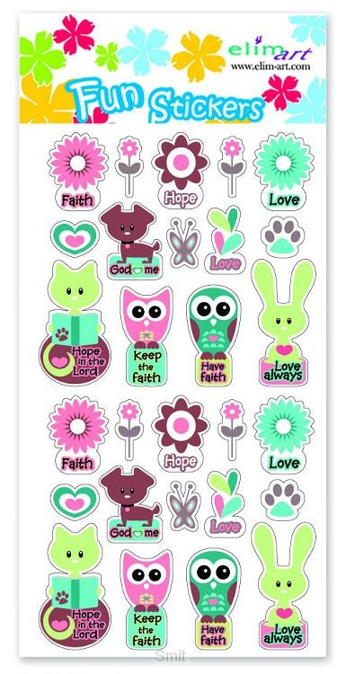 Fun stickers faith hope love set4