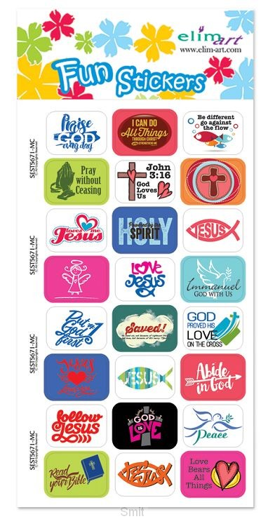 Fun stickers christian icons &  set4