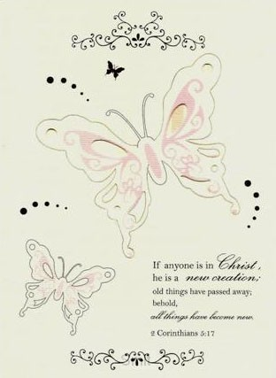 General card butterfly set4
