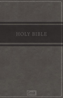KJV - Deluxe Gift Bible, Grey Imit. Leat