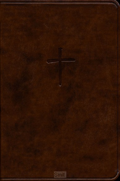 CSB compact bible brown leathetouch