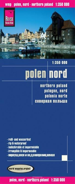 Reise Know-How Landkarte Polen, Nord  1 : 350.000